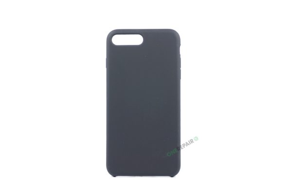 iPhone 7 Plus, iPhone 8 Plus, Silikone cover, Sort, Apple, Stilet, Simpelt