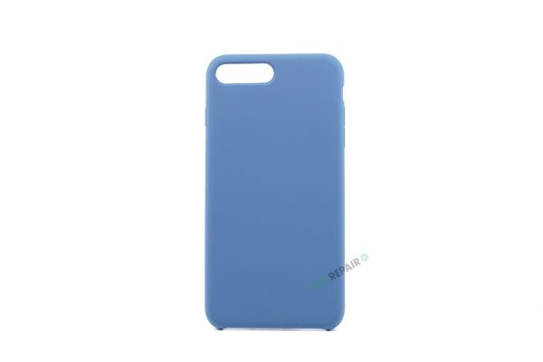 iPhone 7 Plus, iPhone 8 Plus, Silikone cover, Blå, Apple, Stilet, Simpelt