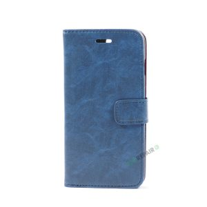 iPhone 7 Plus, iPhone 8 Plus, Flipcover, Cover, Plads til kort, Etui, Blå