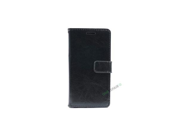 Huawei P9 lite, Flipcover, cover, Plads til kort, Sort