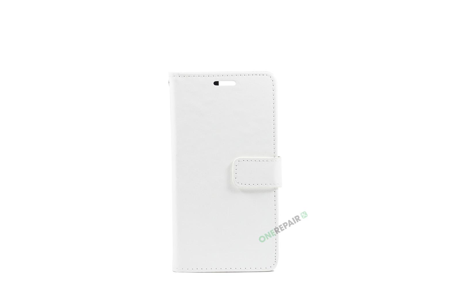 Huawei P9, Flipcover, cover, Plads til kort, Hvid