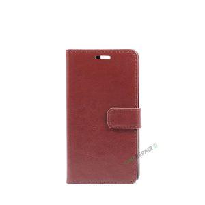 Huawei P9, Flipcover, cover, Plads til kort, Brun