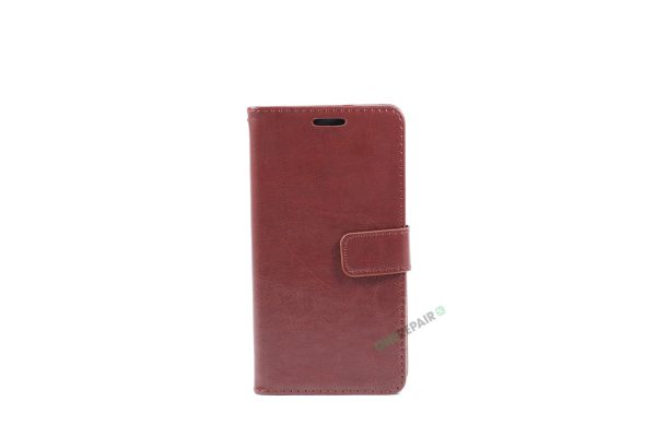 Huawei P9 lite, Flipcover, cover, Plads til kort, Brun