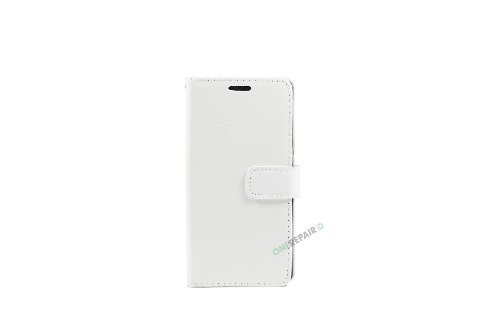Huawei P8 lite, Flipcover, cover, Plads til kort, Hvid