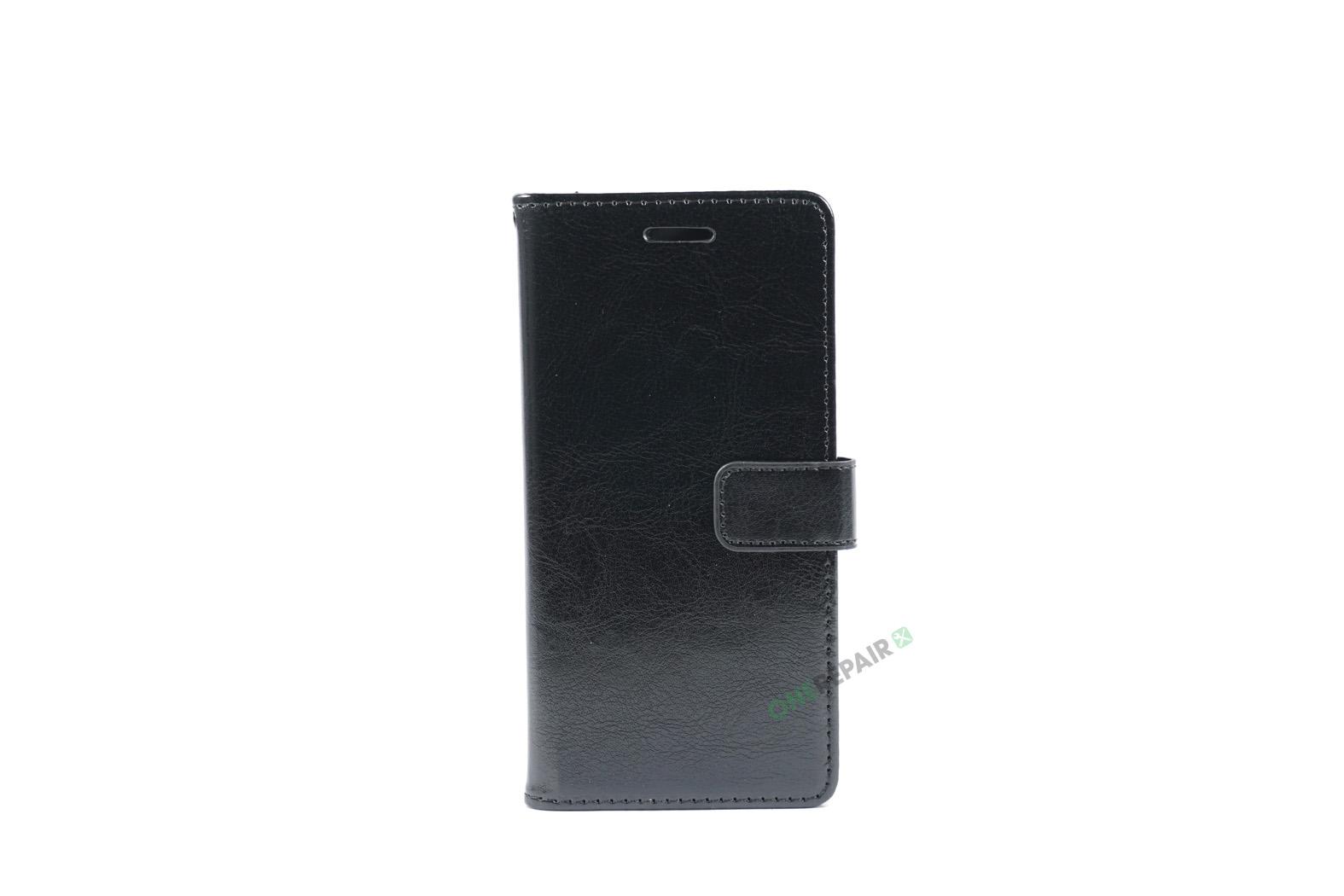 Huawei P10 lite, Flipcover, cover, Plads til kort, Sort