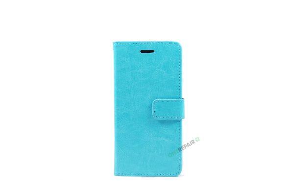 Huawei P10 lite, Flipcover, cover, Plads til kort, Turkis, Blå