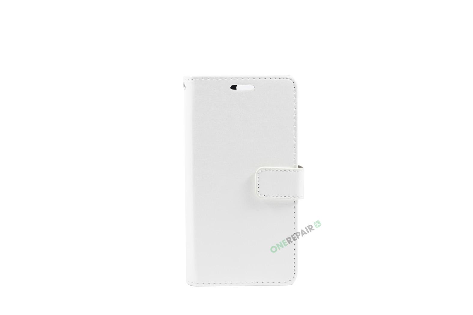 Huawei P10, Flipcover, cover, Plads til kort, Hvid