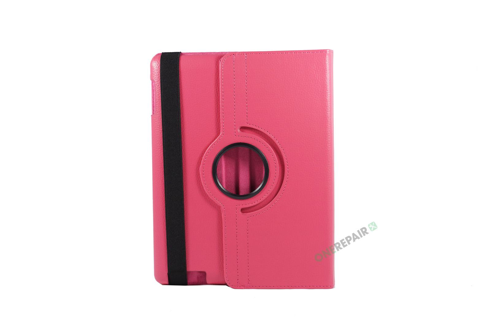 351032_iPad_2_3_4_A1395_A1396_A1430_A1403_1458_A1459_A1460_A1397_Flipcover_Classic_360_Cover_Lyseroed_Pink_Billig_Godt_Beskyttelse_OneRepair_WM_00001