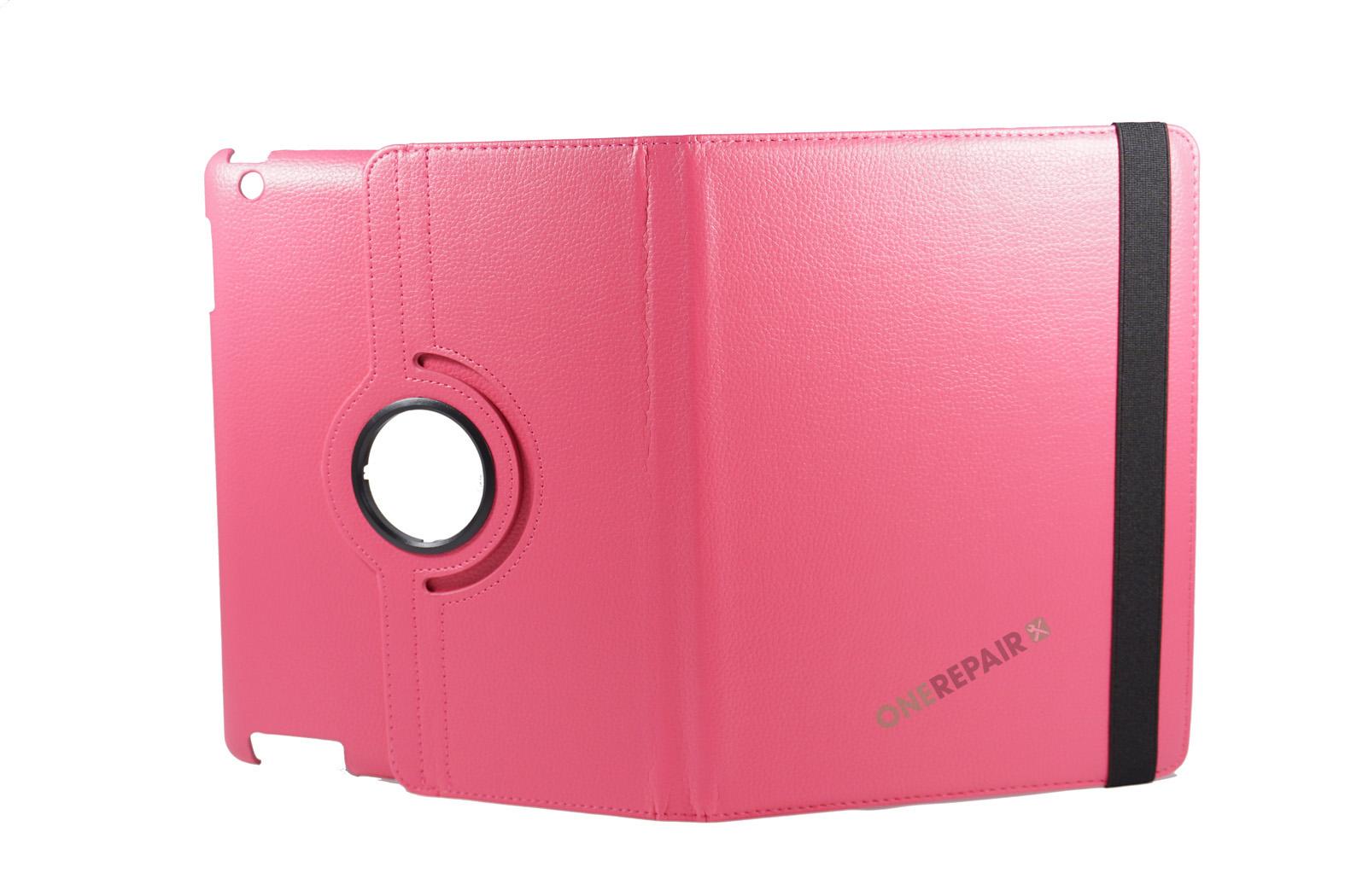 351032_iPad_2_3_4_A1395_A1396_A1430_A1403_1458_A1459_A1460_A1397_Flipcover_Classic_360_Cover_Lyseroed_Pink_Billig_Godt_Beskyttelse_OneRepair_WM_00004