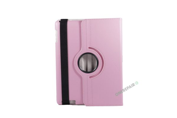 iPad 2, ipad 3, ipad 4, Lyserød cover, 360 grader,