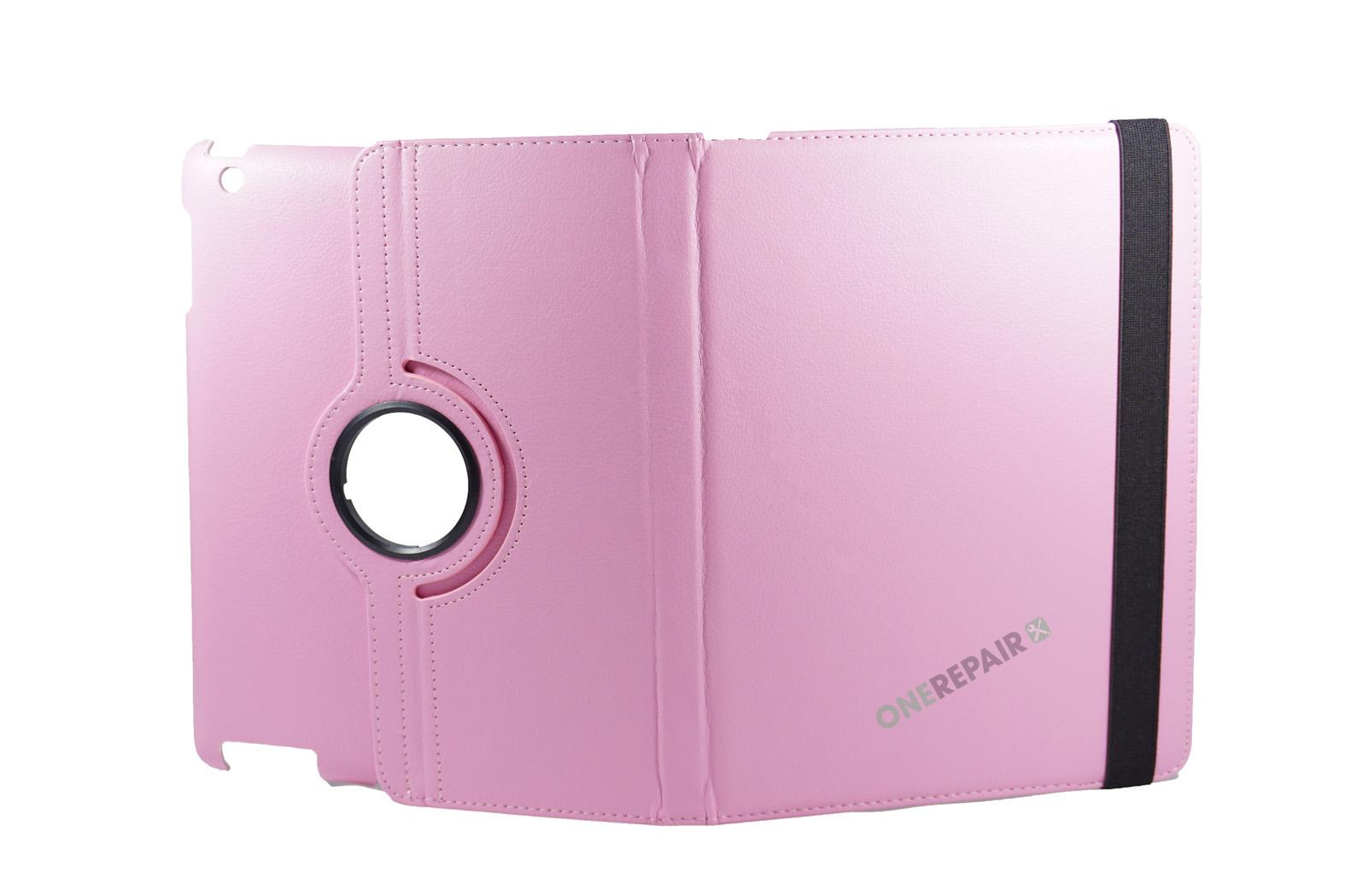 351033_iPad_2_3_4_A1395_A1396_A1430_A1403_1458_A1459_A1460_A1397_Flipcover_Classic_360_Cover_Lyseroed_Pink_Billig_Godt_Beskyttelse_OneRepair_WM_00004