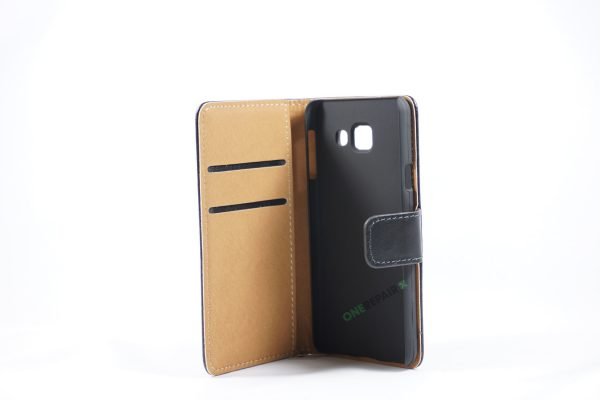 Samsung, A3 2016, Flipcover, Mobilcover, Mobil cover, billig, Sort,