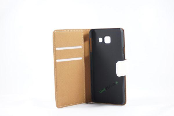 Samsung, A3 2016, Flipcover, Mobilcover, Mobil cover, billig, Hvid,