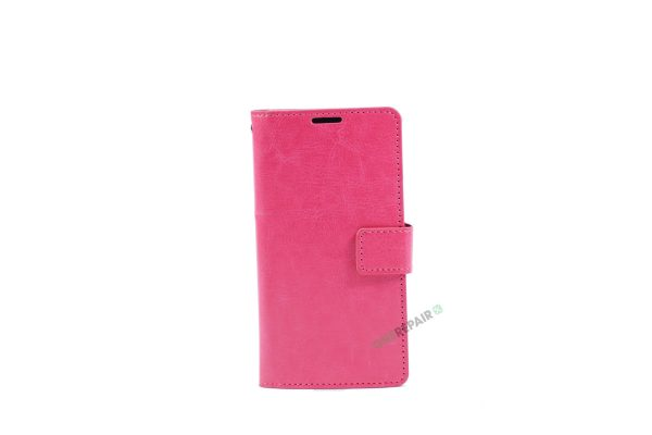 Samsung, A3 2016, Flipcover, Mobilcover, Mobil cover, billig, Pink, Lyseroed, lyserød
