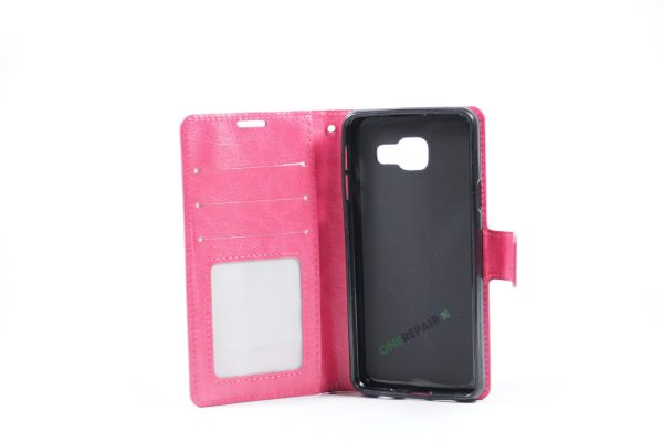 Samsung, A3 2016, Flipcover, Mobilcover, Mobil cover, billig, Pink,