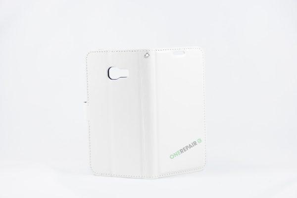 Samsung, A3 2017, Flipcover, Mobilcover, Mobil cover, billig, Hvid,
