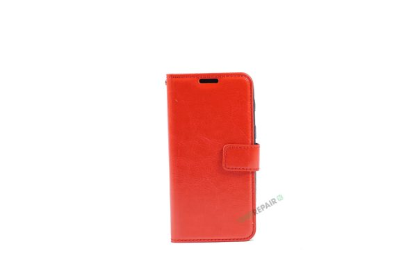 Samsung, A3 2017, Flipcover, Mobilcover, Mobil cover, billig, Roed, rød