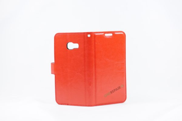 Samsung, A3 2017, Flipcover, Mobilcover, Mobil cover, billig, Rød,