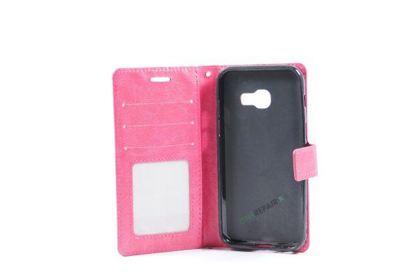 Samsung, A3 2016, Flipcover, Mobilcover, Mobil cover, billig, Pink,