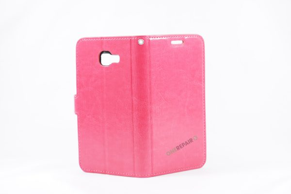 Samsung, A5 2016, Flipcover, Mobilcover, Mobil cover,billig, Pink,