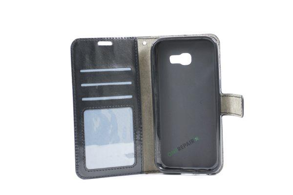 Samsung, A5 2017, Flipcover, Mobilcover, Mobil cover,billig, Sort,