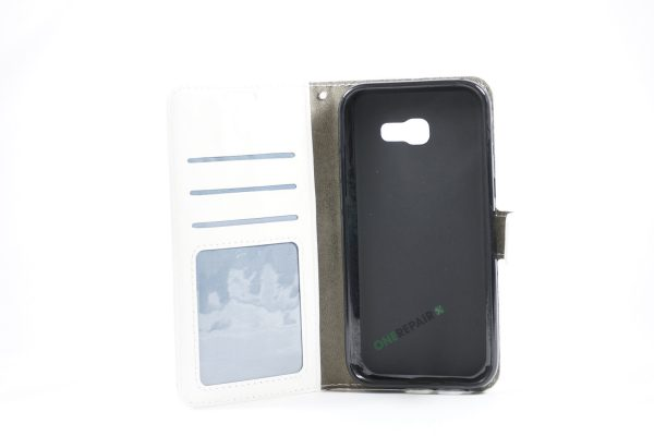 Samsung, A5 2017, Flipcover, Mobilcover, Mobil cover,billig, Hvid,