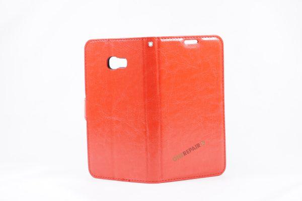 Samsung, A5 2017, Flipcover, Mobilcover, Mobil cover,billig, Rød,