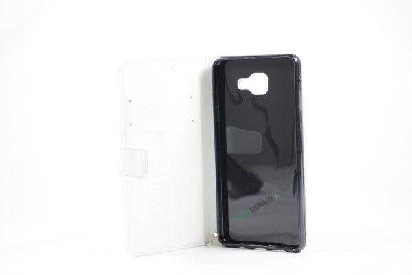 Samsung, A5 2015, Flipcover, Mobilcover, Mobil cover,billig, Hvid,