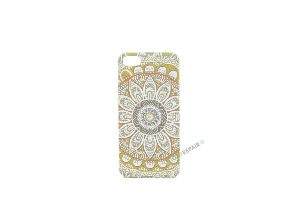 Billig iPhone 5 5S SE Cover Bagcover Moenster Mønster cover Plastik A1453 A1457 A1518 A1528 A1530 A1533 A1428 A1429 A1442 A1723 A1662 A1724 Gul