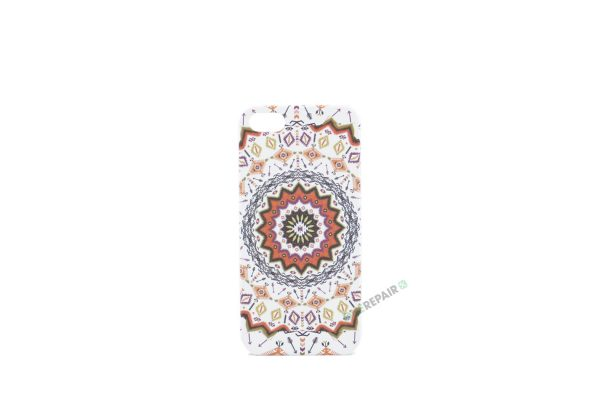 Billig iPhone 5 5S SE Cover Bagcover Moenster Mønster cover Plastik A1453 A1457 A1518 A1528 A1530 A1533 A1428 A1429 A1442 A1723 A1662 A1724 Orange