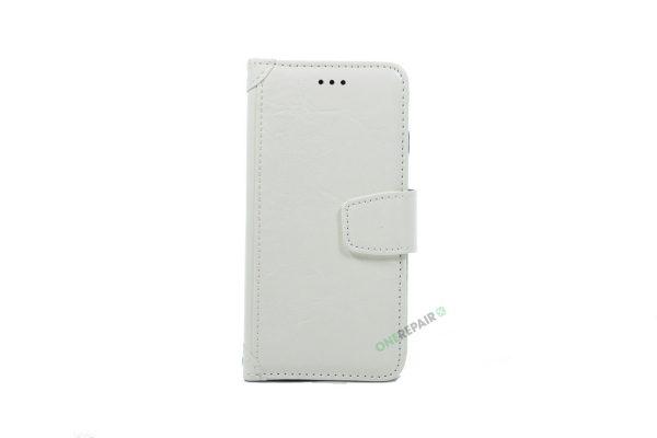 iPhone 6, 6S, A1549, A1586, A1589, A1633, A1688, A1700, A1691, Apple, Flipcover, Pung, Fold, Cover, Plads til kort, Hvid
