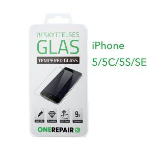 beskyttelsesglas, beskyttelse, glas, Size, Pazer, Panser, Hvid, staerk, stærk, Godt, Billig, Apple, iPhone 5, 5C, 5S, SE