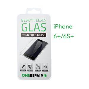 beskyttelsesglas, beskyttelse, glas, Size, Pazer, Panser, Hvid, staerk, stærk, Godt, Billig, Apple, iPhone 6+, 6S+, 6 Plus, 6S Plus