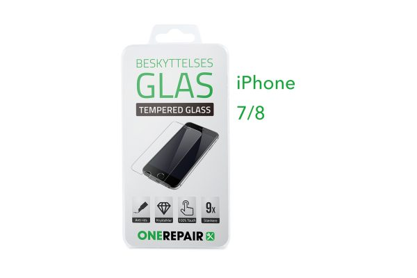beskyttelsesglas, beskyttelse, glas, Size, Pazer, Panser, Hvid, staerk, stærk, Godt, Billig, Apple, iPhone 7, 8