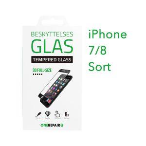 beskyttelsesglas, beskyttelse, glas, iPhone 8, 8, Apple, Fullsize, Full, Size, Pazer, Panser, Sort, staerk, stærk, Godt, Billig, 3d