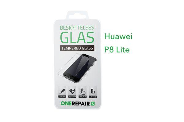 beskyttelsesglas, beskyttelse, glas, Size, Pazer, Panser, Hvid, staerk, stærk, Godt, Billig, Huawei, P8 Lite