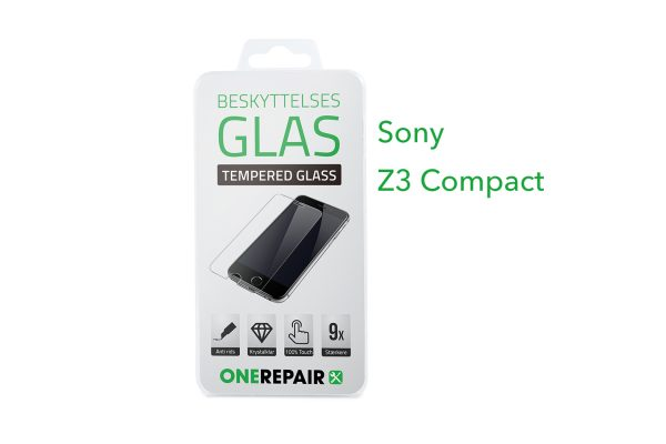 beskyttelsesglas, beskyttelse, glas, Size, Pazer, Panser, Hvid, staerk, stærk, Godt, Billig, Sony, Z3 Compact