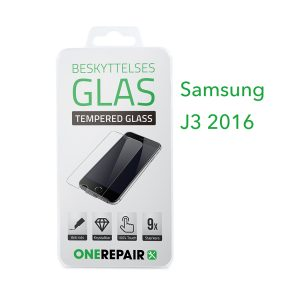 beskyttelsesglas, beskyttelse, glas, Size, Pazer, Panser, Hvid, staerk, stærk, Godt, Billig, Samsung, J3 2016