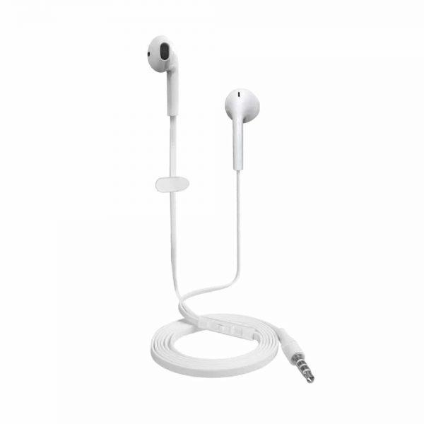 Øretelefoner, Oeretelefoner, Headset, Earphones, EarPods, Headset, Hvid, iPhone, Samsung