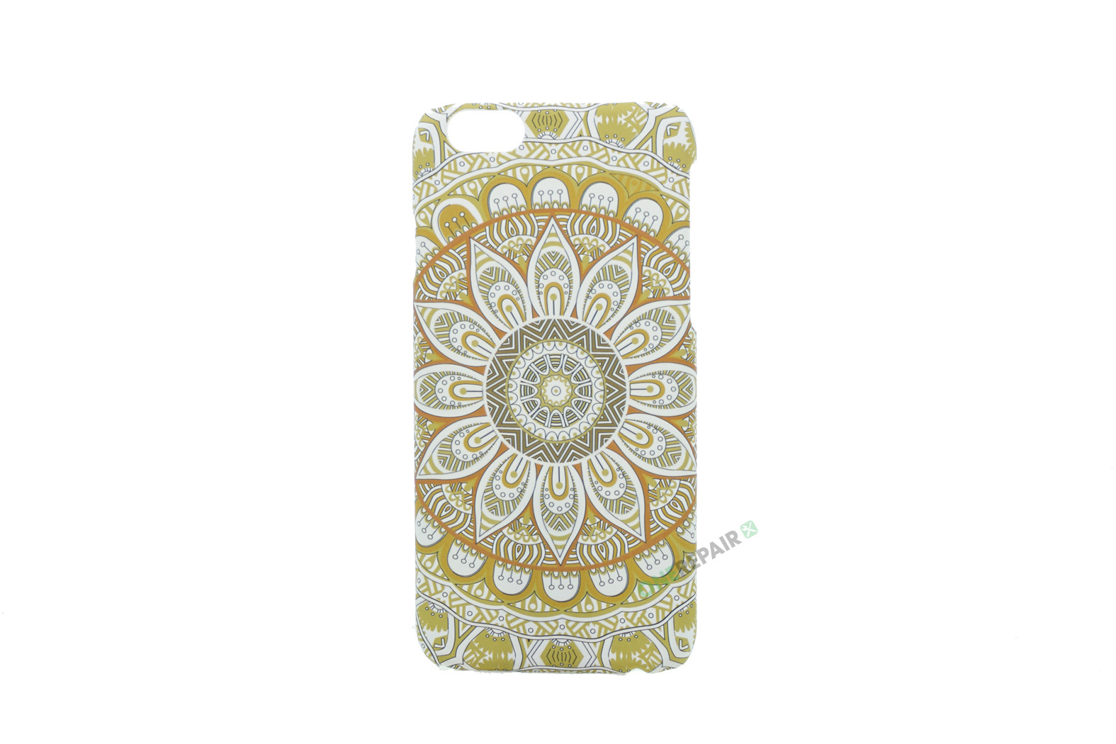 iPhone 6, 6S, A1549, A1586, A1589, A1633, A1688, A1700, A1691, Apple, Bagcover, Cover, Billig, Motiv, Moenster, Mønster, Guld, Gul