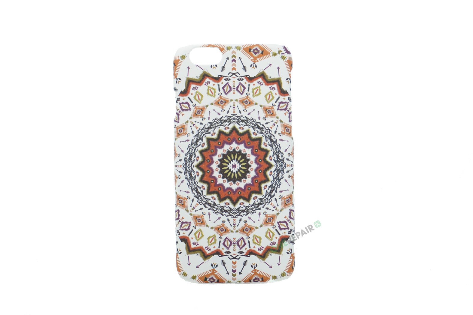 iPhone 6, 6S, A1549, A1586, A1589, A1633, A1688, A1700, A1691, Apple, Bagcover, Cover, Billig, Motiv, Moenster, Mønster, Hvid, Orange