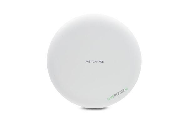 Trådløs oplader, Traadloes oplader, Lader, iPhone, Samsung, Huawei, fast charge, lader, hvid