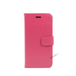 iPhone 6, 6S, A1549, A1586, A1589, A1633, A1688, A1700, A1691, Apple, Flipcover, Pung, Fold, Cover, Plads til kort, Pink, Lyseroed, Lyserød