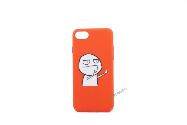 iPhone 7, iPhone 8, Meme cover, Finger, Rød