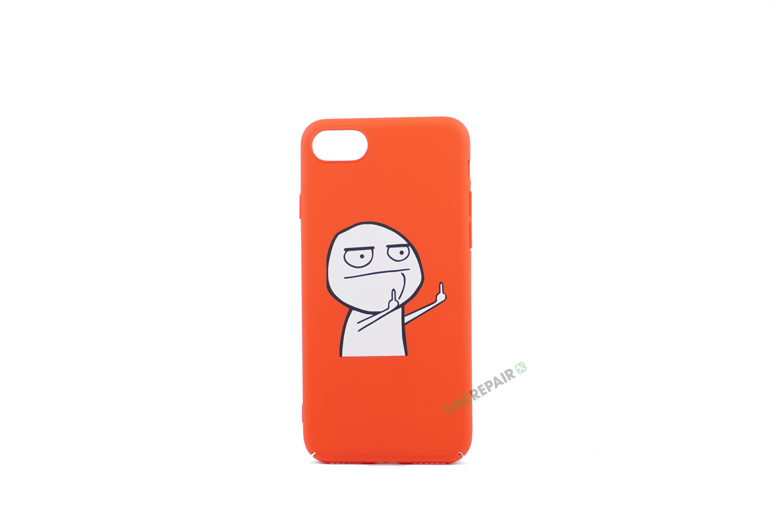 iPhone 7, iPhone 8, Meme cover, Finger, Rød