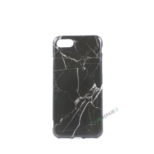 iPhone 7, iPhone 8, Marmor cover, Sort