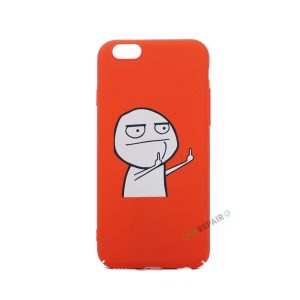 iPhone 6, 6S, A1549, A1586, A1589, A1633, A1688, A1700, A1691, Apple, Bagcover, Cover, Billig, Motiv, Finger, Meme, Roed, Rød, Sjov