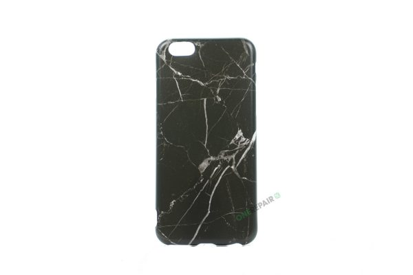 iPhone 6, 6S, A1549, A1586, A1589, A1633, A1688, A1700, A1691, Apple, Bagcover, Cover, Billig, Motiv, Marmor, Sort