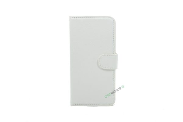 iPhone 6, 6S, A1549, A1586, A1589, A1633, A1688, A1700, A1691, Apple, Flipcover, Sort, Magnetcover, 2 i en, Pung, Fold, Cover, Plads til kort, Hvid