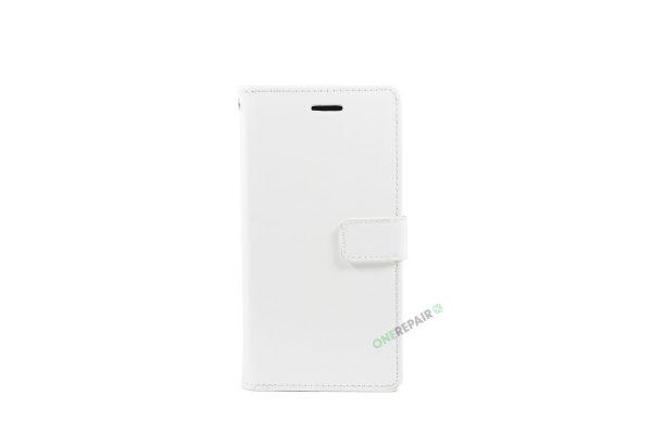 Huawei P20, Flipcover, cover, Plads til kort, Hvid